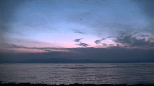 琵琶湖日暮れ