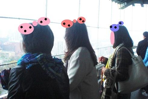 大阪城3人