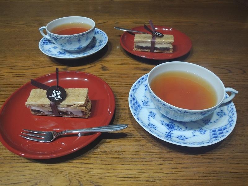 和紅茶と春日大納言ミルフィーユ