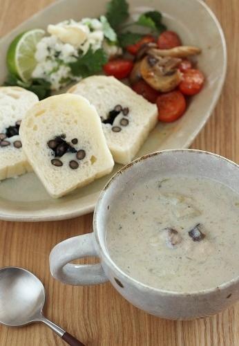 おろし蓮根入り豆乳のスープ