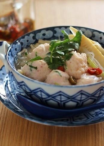 イカだんご入り春雨スープ2