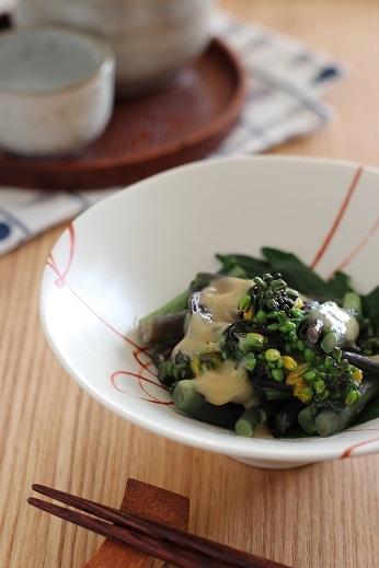 紅菜苔の酢味噌和え