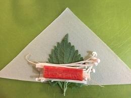 カニカマ春巻き作り1