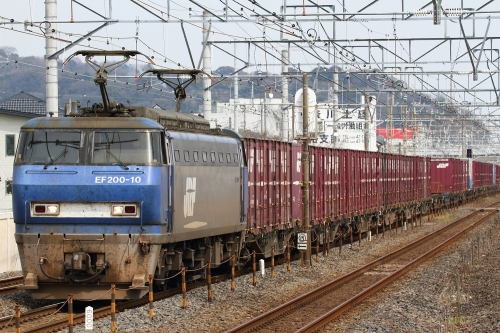 EF200-10代走・5075レ 鴨宮駅