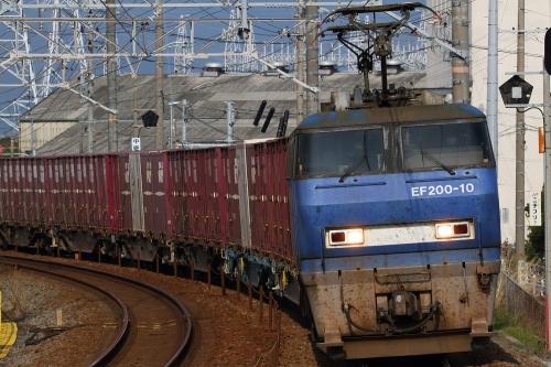 EF200-10代走・5075レ 新蒲原駅