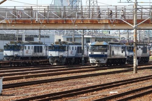 笠寺駅機関車群