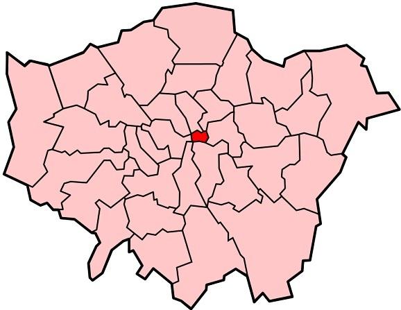 グレーター・ロンドン内における位置