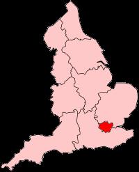 イングランド内のグレーター・ロンドンの位置