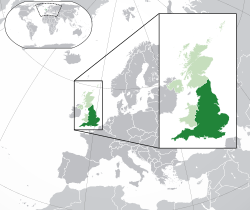 イングランドの位置