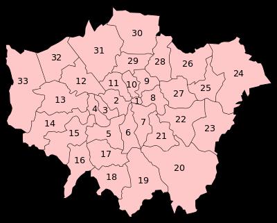 ロンドン 特別区