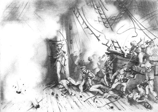 フランスの通報艦キャンシャン号の被害