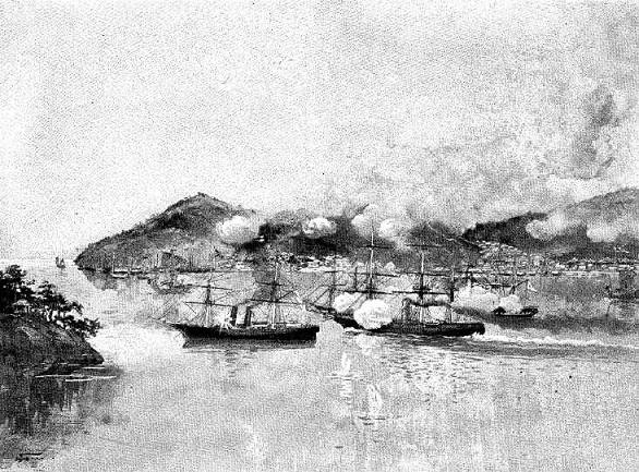 アメリカ艦ワイオミング号の下関攻撃