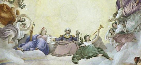 ジョージ・ワシントンを神格化した天井画 2