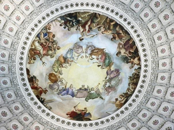 ジョージ・ワシントンを神格化した天井画