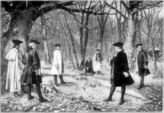 アレクサンダー・ハミルトンとアーロン・バーの決闘(1804年)