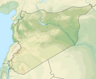Syria physical location map