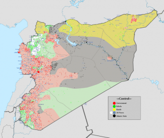 Syrian civil war map
