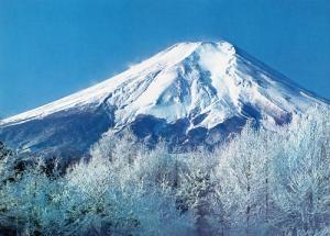 冬の富士山。(富士箱根伊豆国立公園)