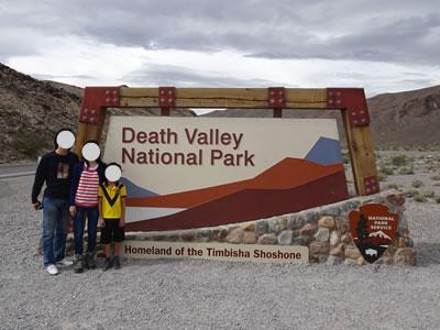 デスバレー国立公園の看板
