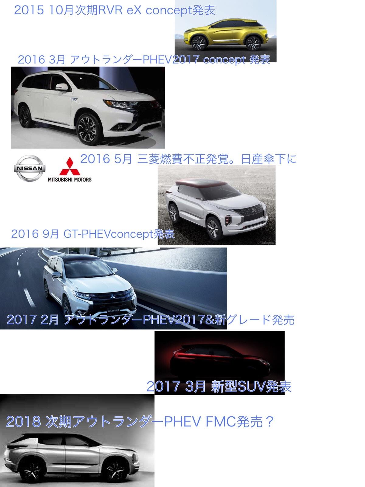 三菱アウトランダーPHEV2017発売 次期アウトランダーPHEV2018 フルモデルチェンジ