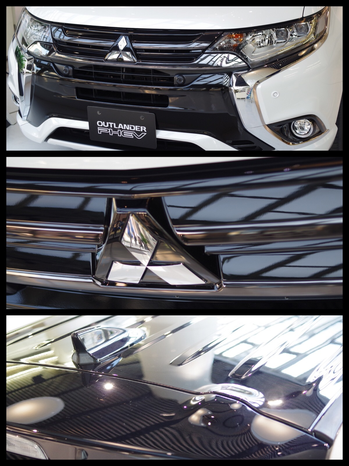 アウトランダーPHEV2017 S Edition ホワイトパール×ブラックマイカ