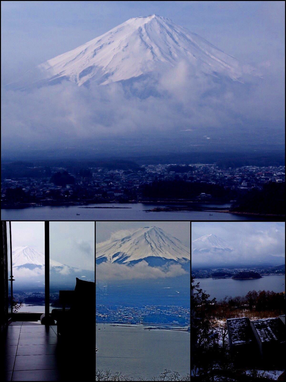 星のや富士 部屋から富士山が見える