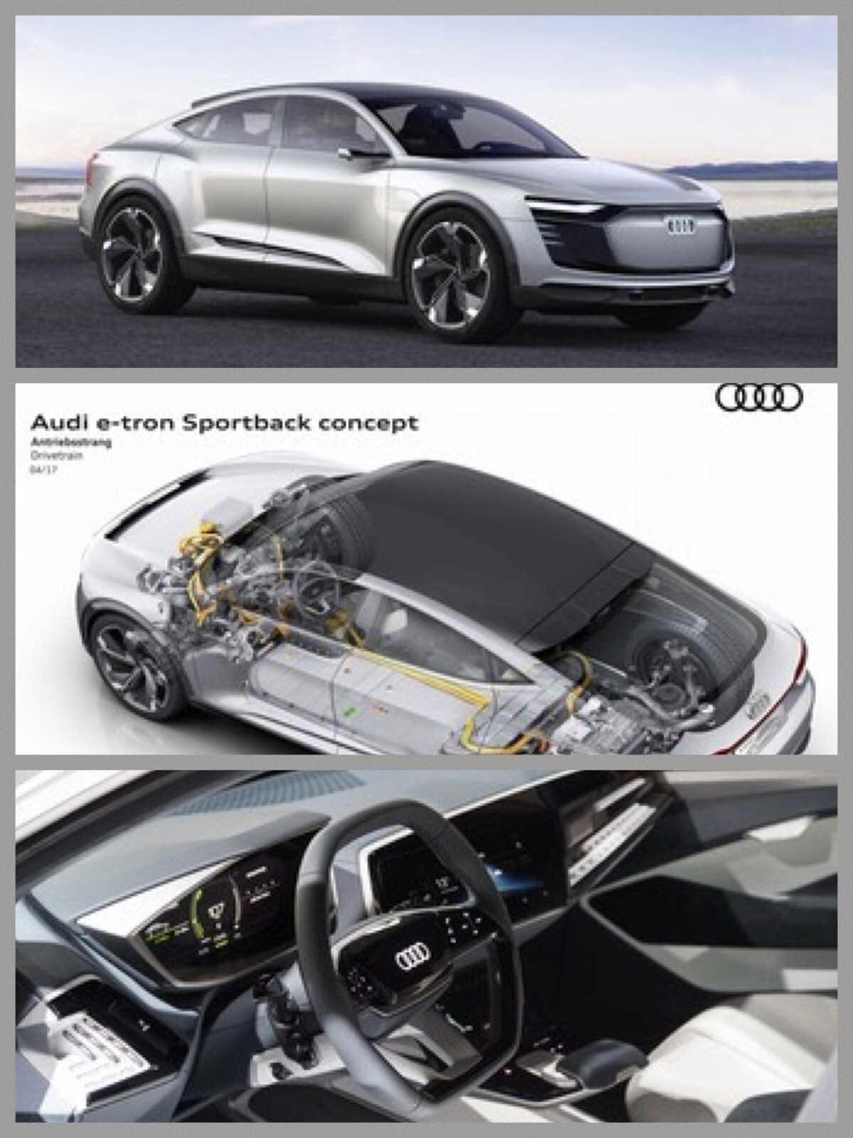 「Audi e-tronスポーツバック コンセプト」EV