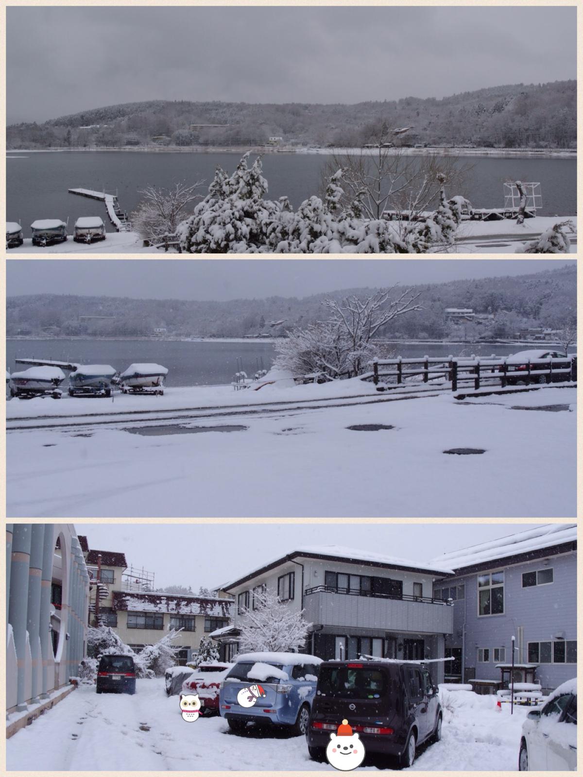 ラコストリ山中湖 雪景色