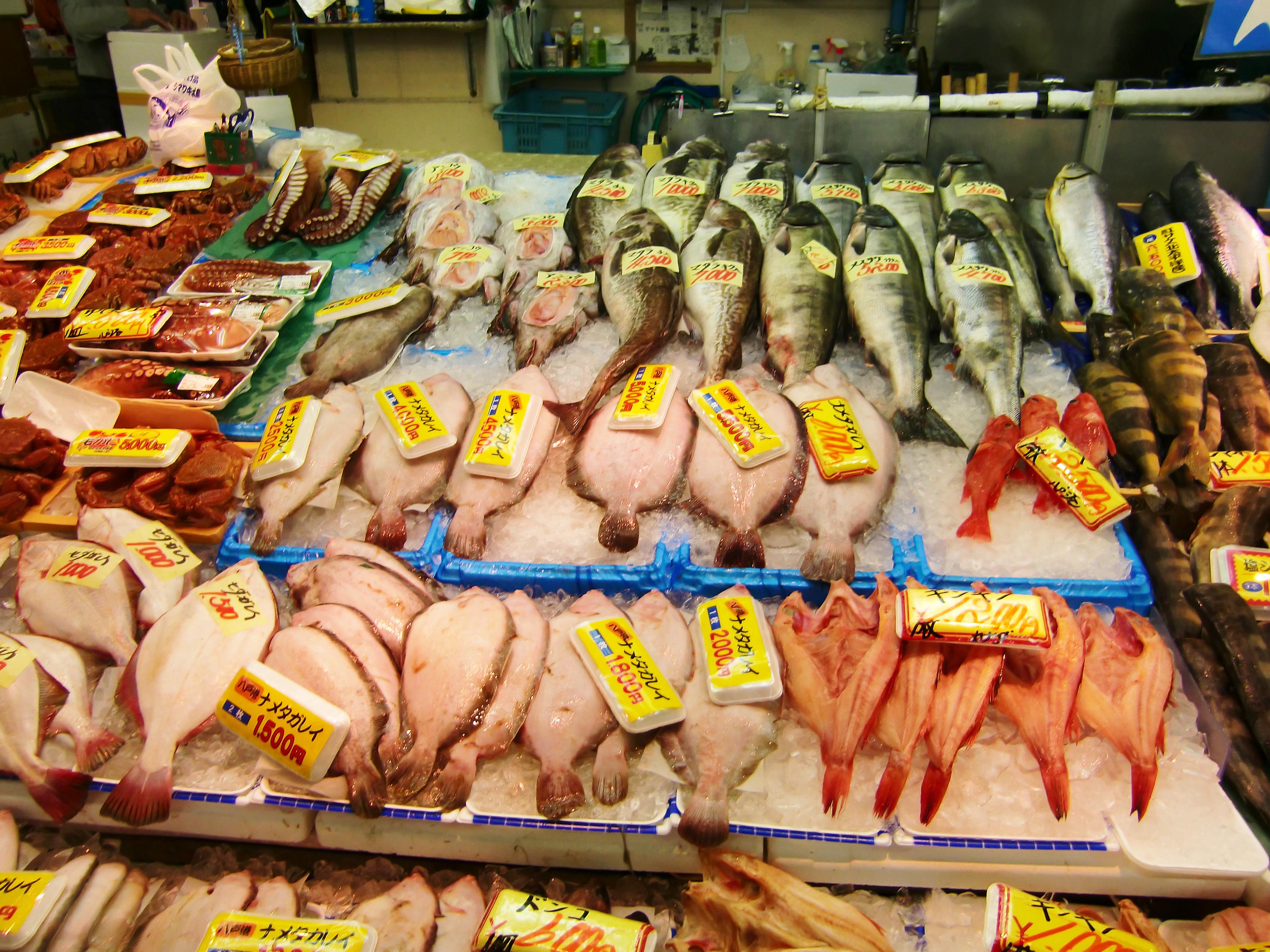 冬の魚市場