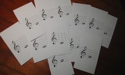 音符カード3枚組