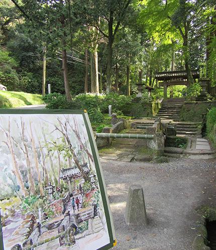 鎌倉浄智寺スケッチ