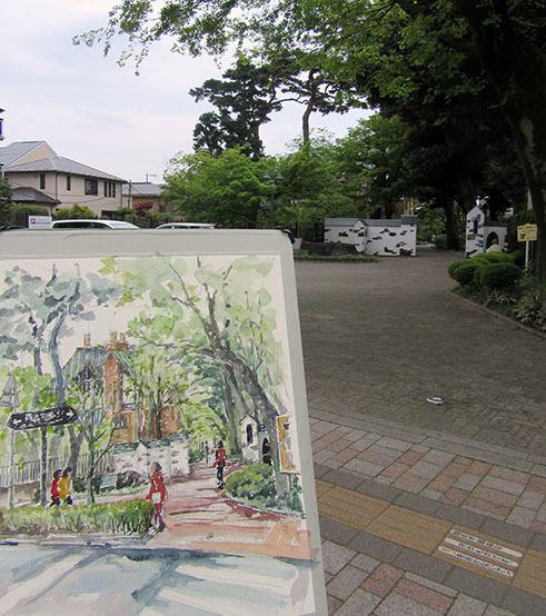 山本有三記念館スケッチ