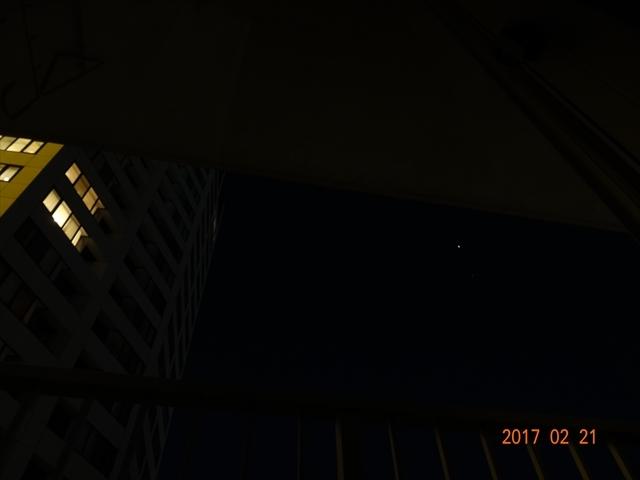 家からの星