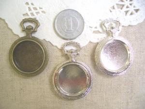 ミール皿:懐中時計小3色