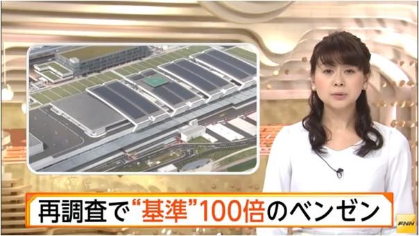 ②汚染豊洲再調査→発がんベンゼン(ベンゾール)100倍シアンも再検出!