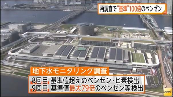 ③汚染豊洲再調査→発がんベンゼン(ベンゾール)100倍シアンも再検出!