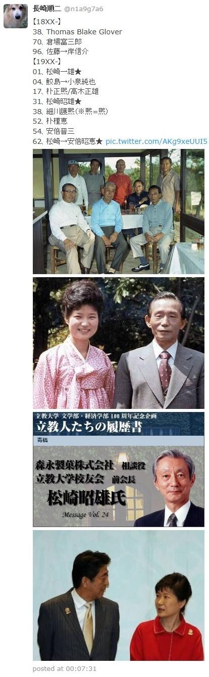 ④朴槿恵は安倍晋三の嫁候補だった!朴槿恵と安倍昭恵のそっくり写真!朴正煕と松崎昭雄(森永ヒ素ミルク)!