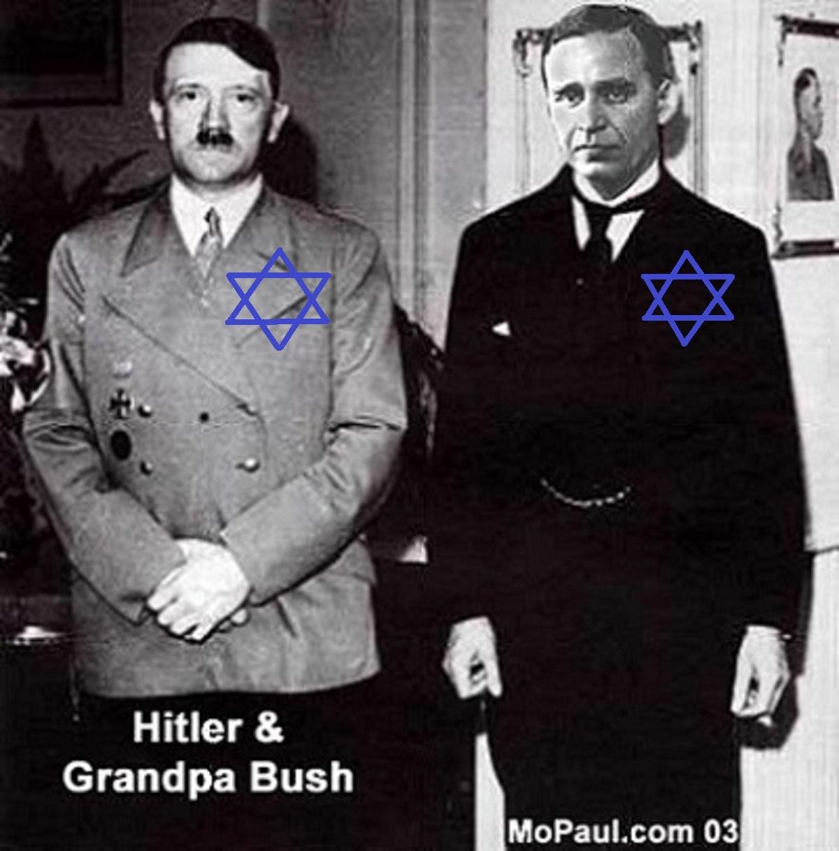 ①ヒトラーとブッシュ祖父は仲間!ナチス=ユダヤを知らない人が多いんですね!