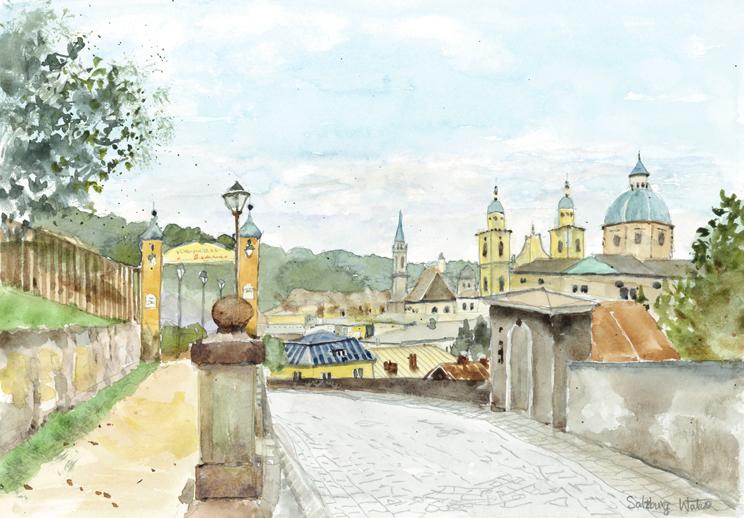 ザルツブルグ城へ上る