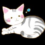 眠たい猫 イラスト