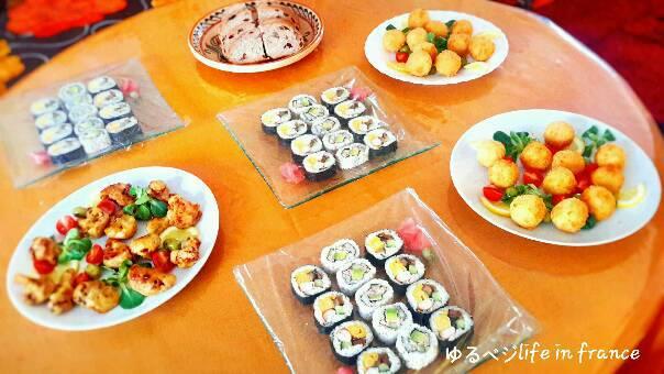 ランチパーティー 巻き寿司