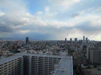 大阪ベランダからの景色