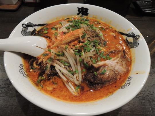 カラシビ味噌らー麺(カラ増し、シビ増し)(800円)