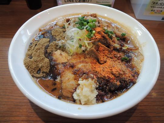 辛口炙り肉ソバ『味噌』(辛さレベル10、しびれ度レベル10)