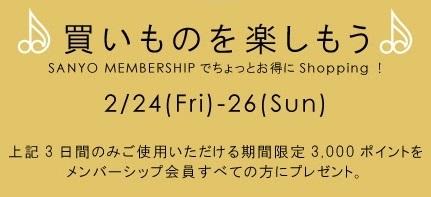 sanyo 3000円ポイント