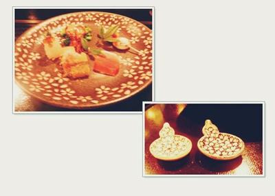 箸置き+前菜