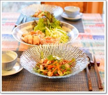 蕎麦saladで夕飯
