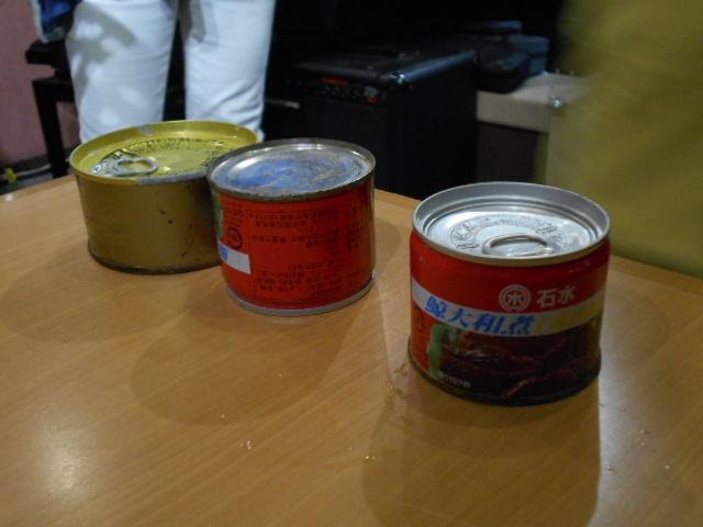 石巻で被災した缶詰