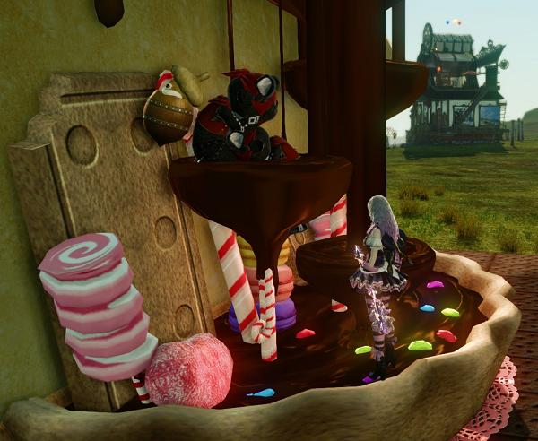 お菓子の家でDV