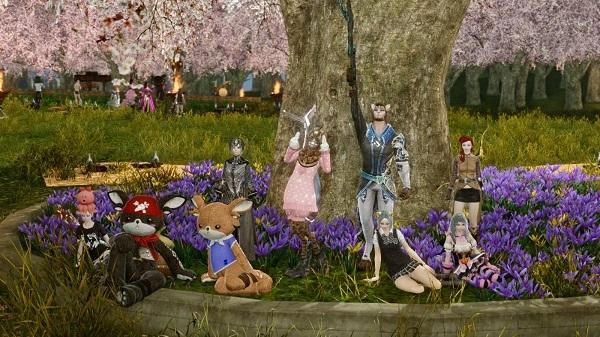 4月23日お花見会場で記念写真